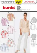 2561 Burda Pattern: Misses' Button Front Blouse